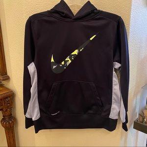 NIKE Black Hoodie Sweatshirt Size Large